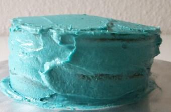 Blauer Ombré Kuchen