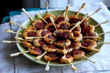 Chorizo Garnelen Spieße - Tapas / Fingerfood