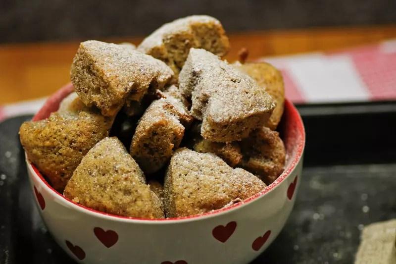 Nuss Muffins Rezept aus der Weihnachtsbäckerei