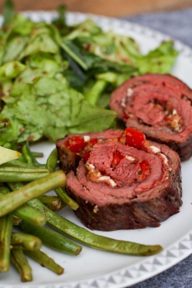 Flank Steak Rollbraten Rezept