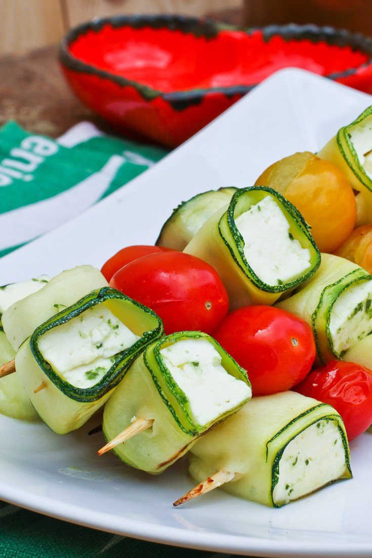 gem se spie e grillen zucchini feta tomaten. Black Bedroom Furniture Sets. Home Design Ideas