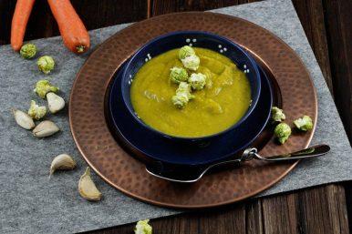 Süßkartoffel Karotten Suppe mit Curry