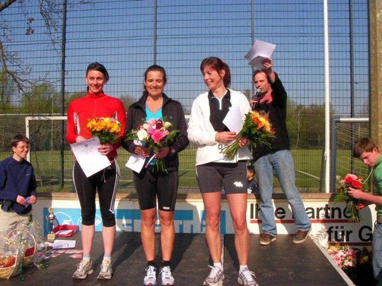 Siegerehrung 5 km Lauf Damen 2