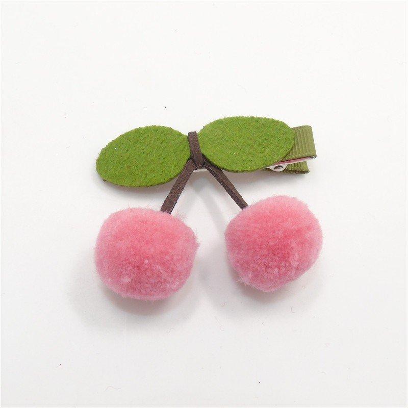 Haarclips Kirschen in rosa aus Filz. Die Macherei