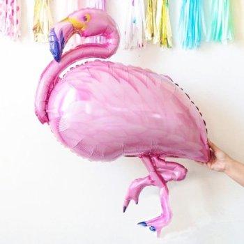 Folienballon Flamingo rosa pink für tropical Party von Die Macherei