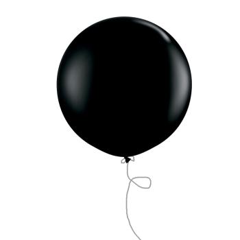 Riesen Luftballon 100 cm Schwarz . Die Macherei