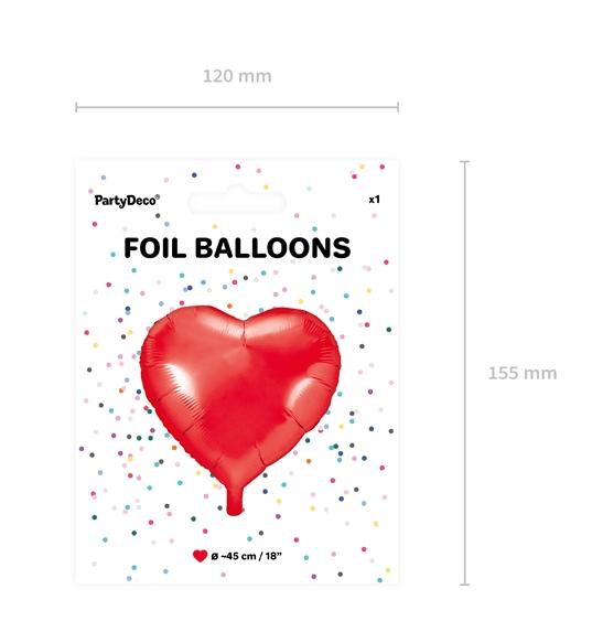 Folienballon Herz Verpackung Rot