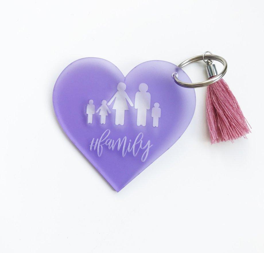 Schlüsselanhänger Family personalisierbar mit der Anzahl der Familienmitglieder. Die Macherei