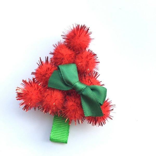 Haarspangen Set PomPom Weihnachtsbaum . Die Macherei