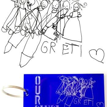 Schlüsselanhänger Our Gang Minidesign von Die Macherei