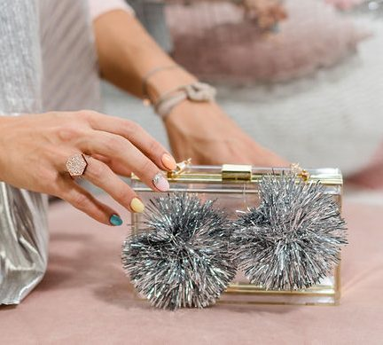 Bedazzling Clutch Metallic PomPoms 6
