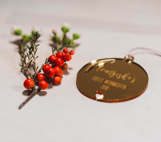 """Acryl Weihnachtsschmuck """" Mein erstes Weihnachten"""". Die Macherei"""