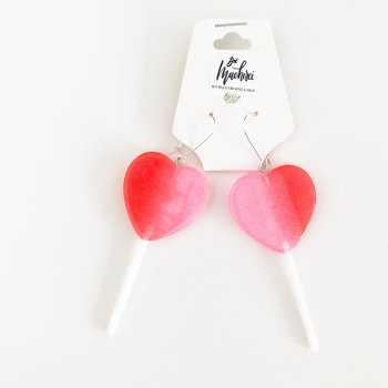 Lolly Ohrringe Plastik. Die Macherei