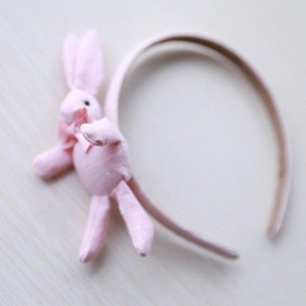 Hasenhaarreifen rosa