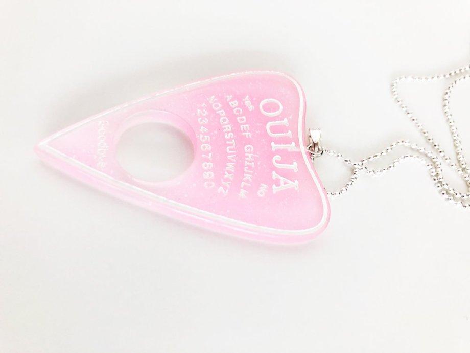 Ouija Ohrringe rosa glitzer Die Macherei