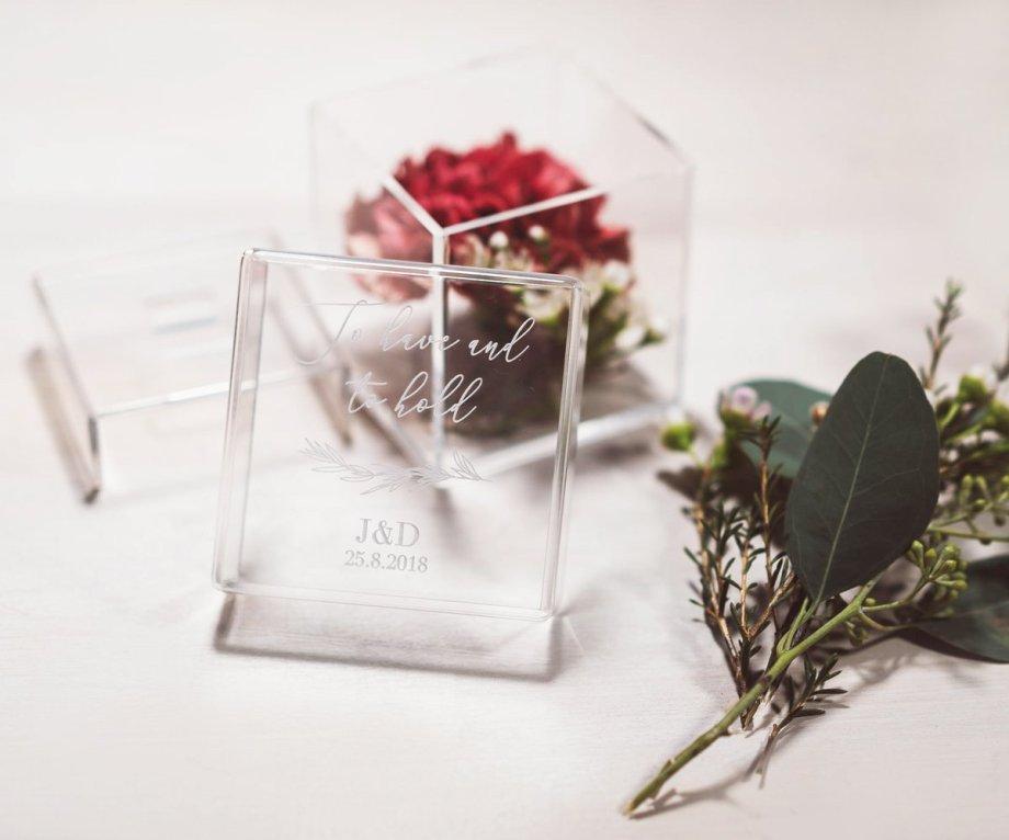 Acryl Ringbox personalisiert ForeverEver . Die Macherei