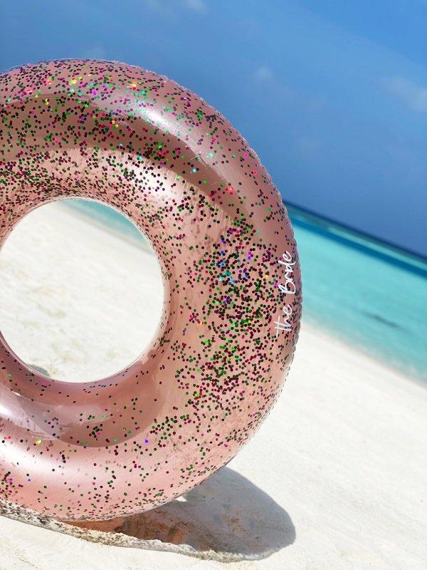 Glitzerschwimmreifen rosa