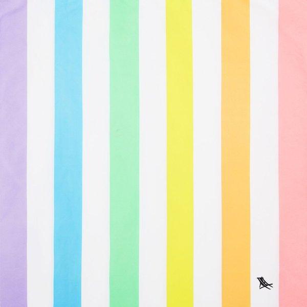 Quick Dry Badetuch Microfaser Regenbogen Pastell