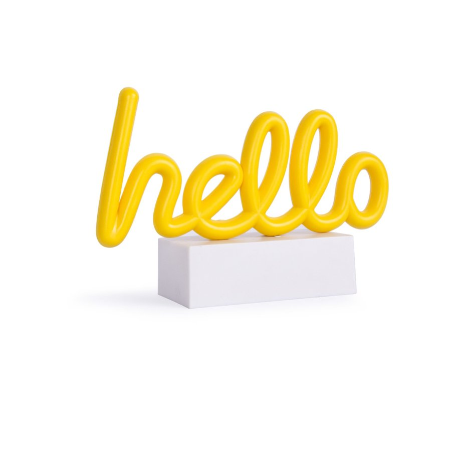 Mini Neonschriftzug hello