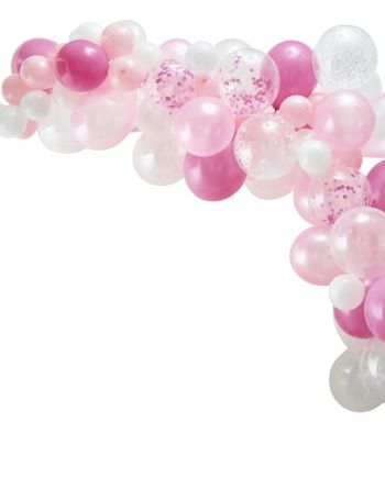 Luftballon Girlande Rosa Mix 70tlg