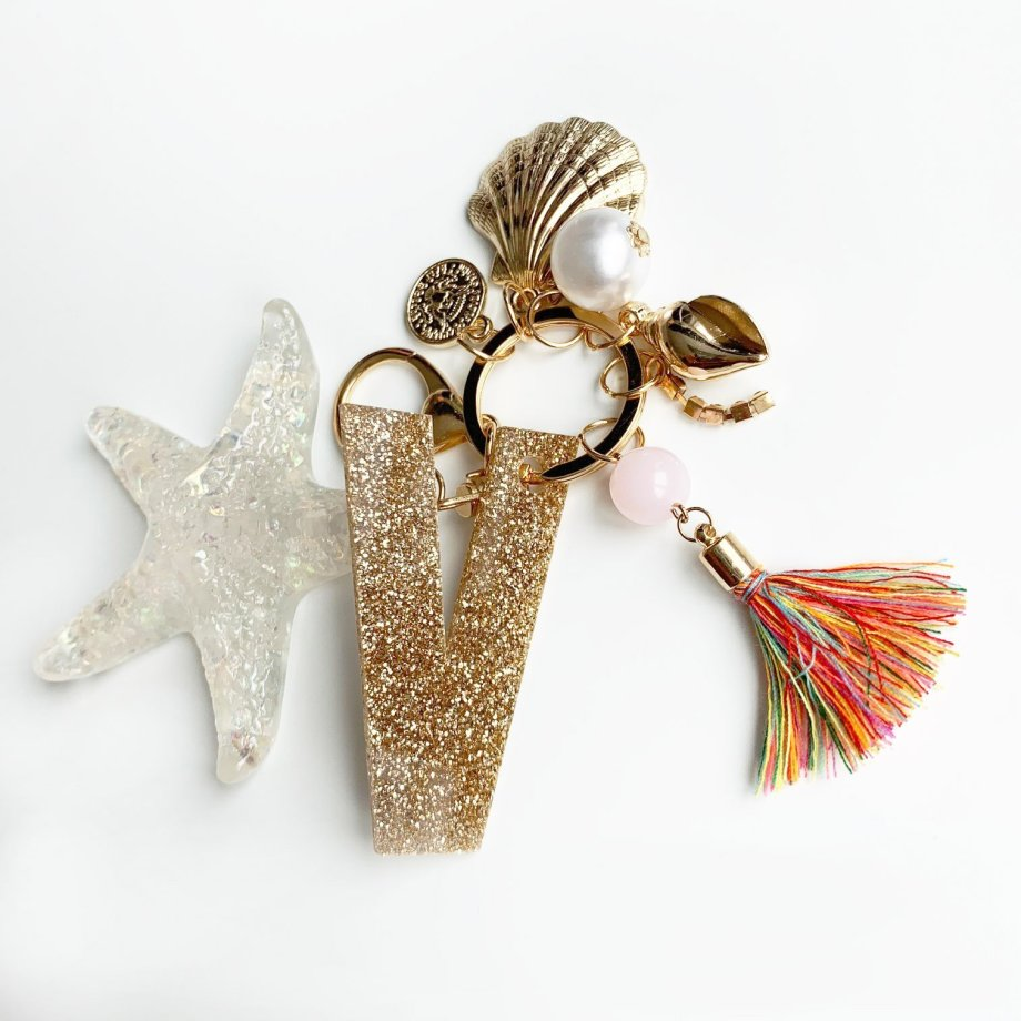 Schlüsselanhänger Muschel personalisiert