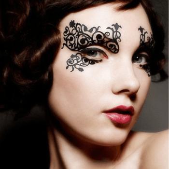 Gesicht Aufkleber Augenmaske