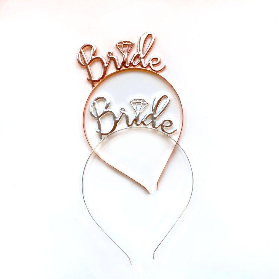 Haarreifen Metall Bride 2 Farben