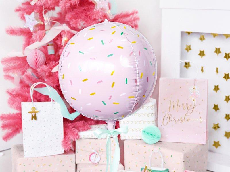 Orb Folienballon Pastell Donut