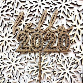 Caketopper Hello 2020 Die Macherei