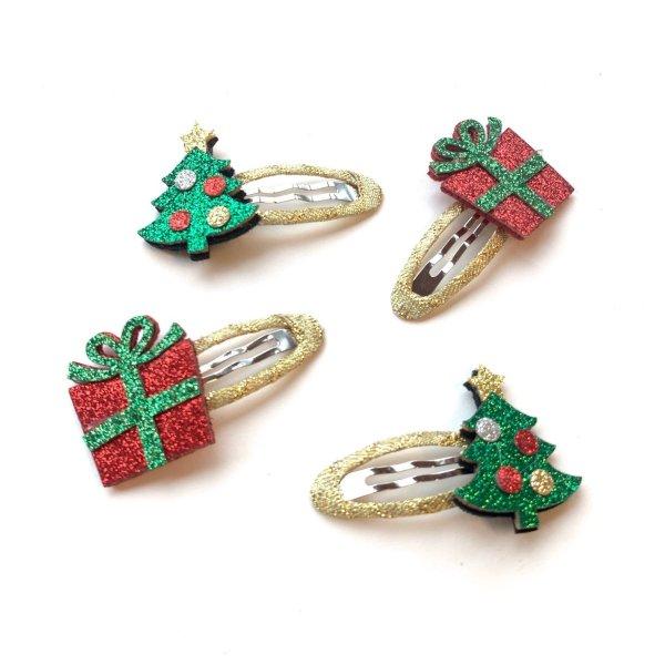 Haarspange weihnachten 2 Designs
