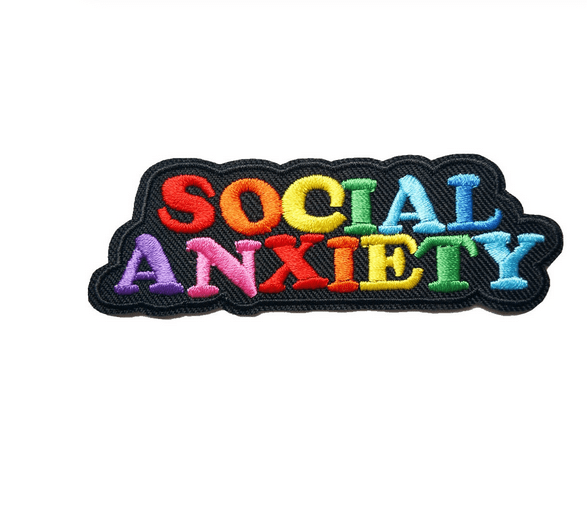Bügelpatch Regenbogen Social Anxiety. Die Macherei