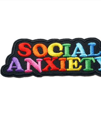 Bügelpatch Regenbogen Social Anxiety. Die Macherei