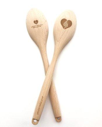 Personalisierter Kochlöffel groß Holz . Die Macherei