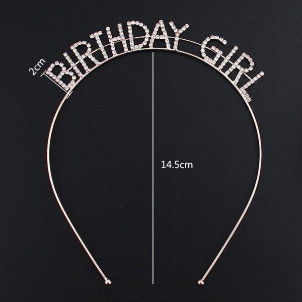 Haarreifen Birthday Girl Glitzersteine