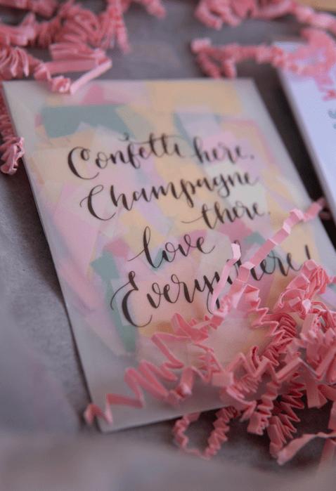 Confetti Umschlag