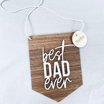 Premium Plakette best dad ever personalisierbar