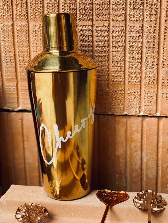 Deluxe Shaker Tumbler gold personalisierbar Macherei