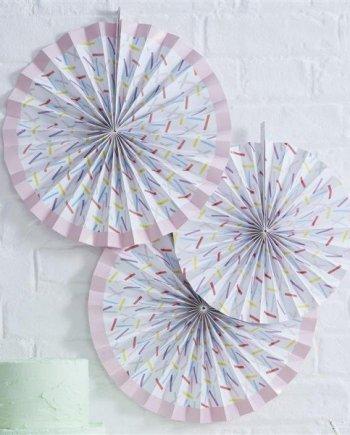 Papierrosetten Set Sprinkles