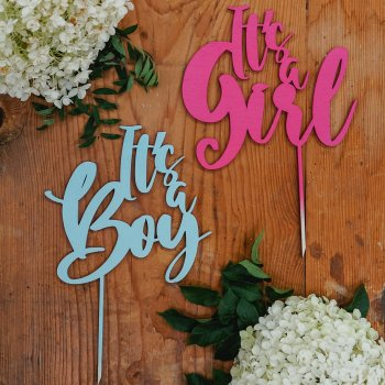 "Caketopper ""It's a Boy/Girl"""