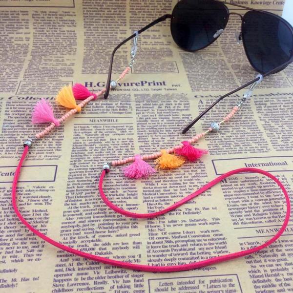 Brillenkette Maskenkette Multikolor Tassles