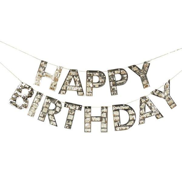 Girlande Happy Birthday Fransen