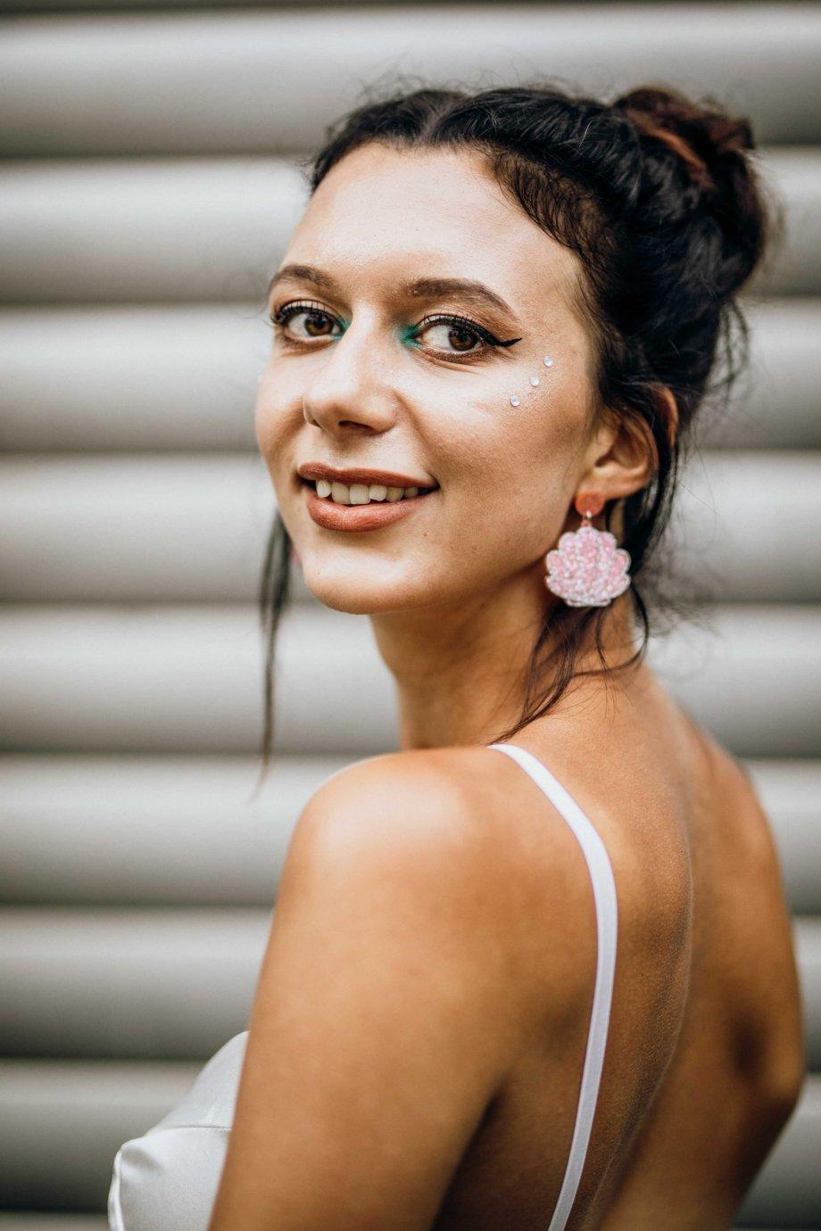 Ohrringe Rosa Muschel
