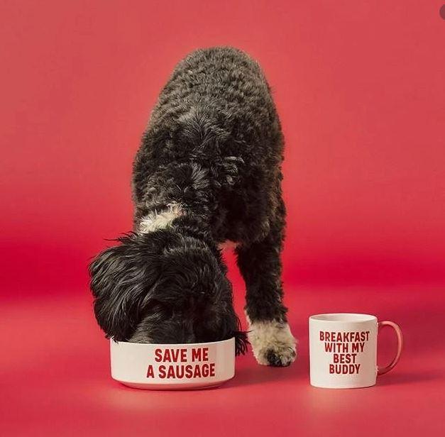 Geschenkset Hundeschüssel & Keramiktasse