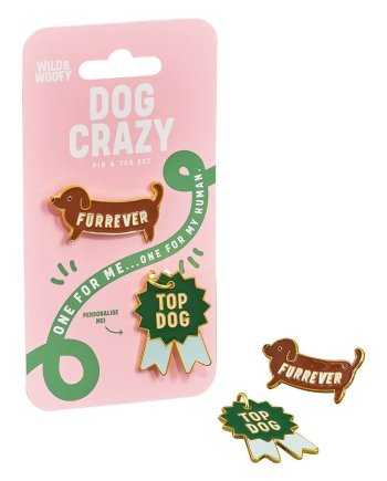 Hundemarke & Emaille Pin Set Macherei