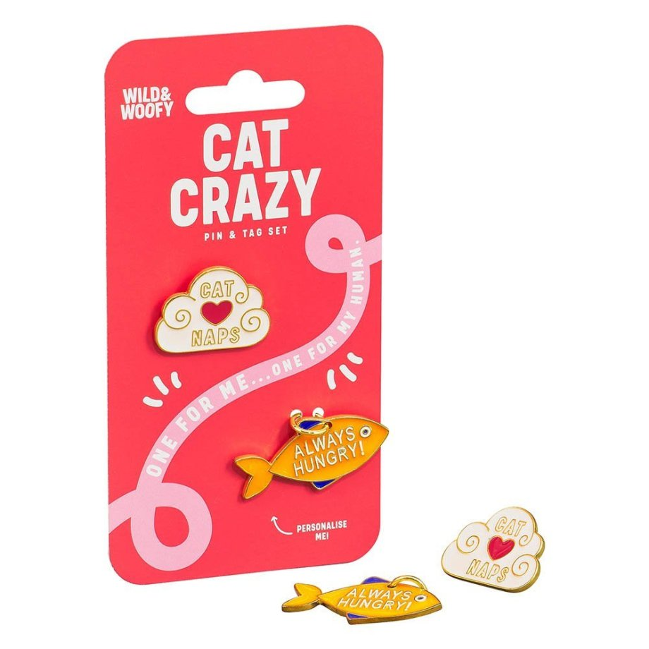 Katzenmarke & Emaille Pin Set