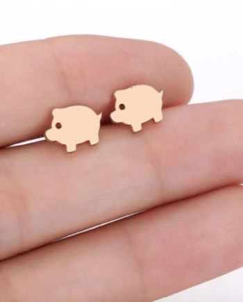 Ohrstecker minimalistic pig