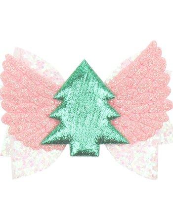 Haarspange Tannenbaum Rosa