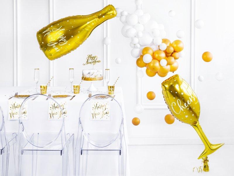 Folienballon Sektflasche