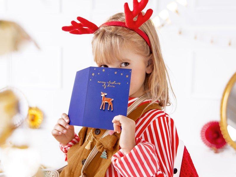 """Karte mit Pin """"Merry Christmas my deer"""""""