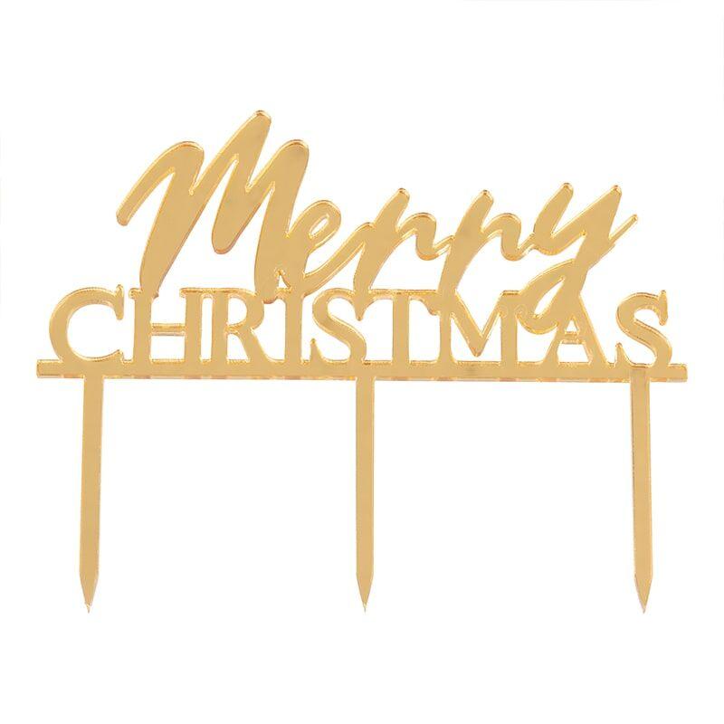 Mini Caketopper Merry Christmas